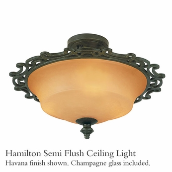 Kalco 4445 Hamilton Semi-Flush Ceiling Light