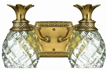 Hinkley 5312BB Plantation Brass Tropical Two Light Vanity Light