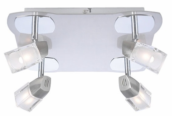 PLC 6096-SN Sammy 4-Light Ceiling Light in Satin Nickel
