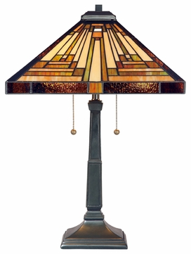 Quoizel TF885T Stephen Tiffany Art Glass Table Lamp