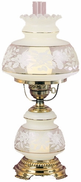 Quoizel SL703G Satin Lace Accent Hurricane Lamp in French Gold Flemish