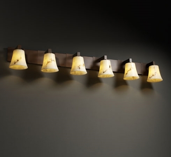 Justice Design FAL8926 Modular Lumenaria Contemporary Six-Light Bathroom Lighting