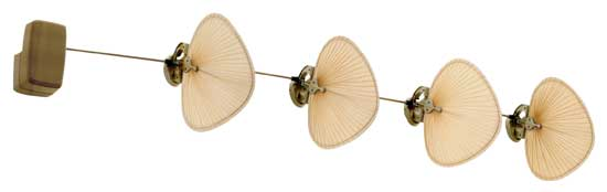 Fanimation fans fp780abp14 punkah 4 blade linear ceiling fan in fanimation fans fp780abp14 punkah 4 blade linear ceiling fan in antique brass with natural palm loading zoom aloadofball Images