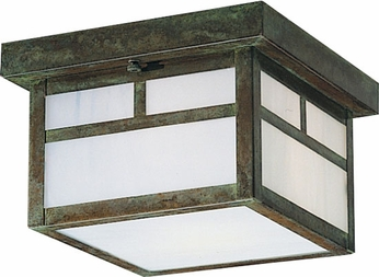 Arroyo Craftsman MCM-18 Mission Craftsman Outdoor Flush-Mount Ceiling Fixture - 18 inches wide