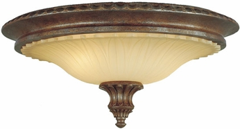 Feiss FM232-BRB Stirling Castle Traditional 2-light 18 inch Flush Mount Light in British Bronze