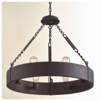 Troy F2503cb Jackson 6 Light Wrought Iron Chandelier Tro