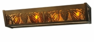 Meyda Tiffany 142510 Mountain Pine 24 Inch Wide Rustic Antique Copper Bathroom Light
