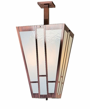 Arroyo Craftsman AIH-12 Asheville Craftsman Semi-Flush Foyer Ceiling Light - 26.75 inches tall