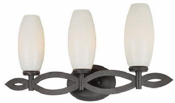 Troy B1823FI Trio 3 Light French Iron Vanity Fixture
