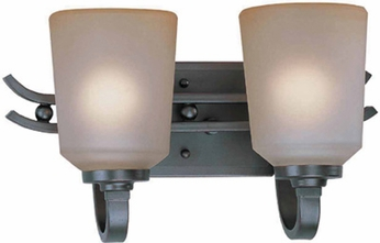 Lite Source LS16742 Rupert Contemporary 2-light Bathroom Vanity Lighting
