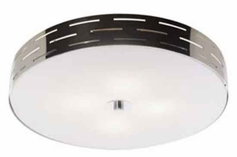 Artcraft AC6006 Seattle Large Halogen Modern Flush-Mount Ceiling Light with Chrome