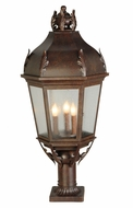 Meyda Tiffany 141105 Royan Traditional Style 15 Inch Tall Outdoor Post Lamp Lighting