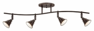 Quoizel EVE1404PN Eastvale Vintage Style Palladian Bronze 4 Lamp Monorail Light Kit