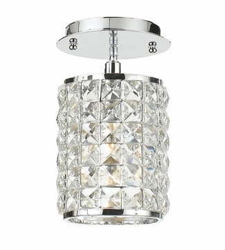 Crystorama 800-CH-CL-MWP Chelsea 4 1/2 inch ceiling light in chrome