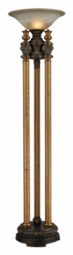 Dimond 113-1135 Athena 72 Inch Tall Traditional Bronze Torch Lamp