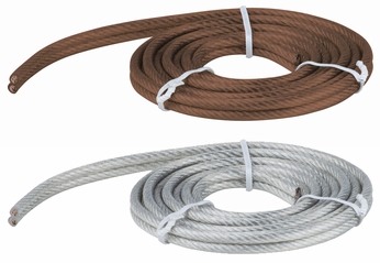 Besa R12FLX60 Monorail 5' Extra Flexible Feed Cable in Bronze or Clear