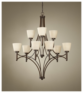 Feiss for Less F267163HTBZ Nolan Large 2-tier 9-lamp Chandelier