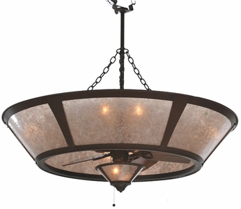 Meyda Tiffany 108444 Chandel-Air Van Erp Silver Mica Contemporary Pendant Light with Fan Light