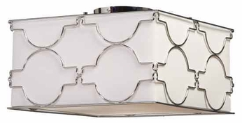 Artcraft SC636 Morocco Square Contemporary Semi-Flush Ceiling Light
