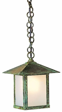 Arroyo Craftsman EH-7 Evergreen Craftsman Indoor/Outdoor Hanging Pendant Light - 7 inches wide