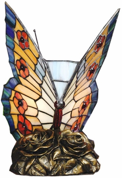 Quoizel TF6599R Butterflies Tiffany Accent Lamp in Architectural Bronze - 6 inches wide