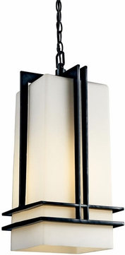 Kichler 49205bkfl tremillo art deco fluorescent outdoor for Art deco porch light