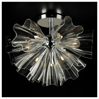 PLC 82367 Orbitier Modern Semi-Flush Ceiling Light