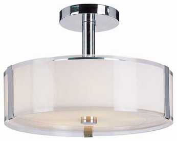 Trans Globe 2091 Framed Modern Large Semi-Flush Ceiling Light
