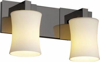 Justice Design FSN892260 Modular Fusion Hourglass Shade Contemporary Two-Light Bathroom Lighting