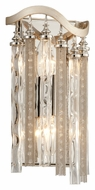 Corbett 176-12 Chimera 13 Inch Tall Tranquility Silver Leaf Wall Light Sconce - Small
