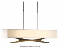 Hubbardton Forge 137655 Moreau 42 Inch Wide Fabric Shade Kitchen Island Light Fixture