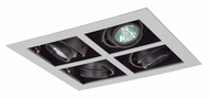 Jesco MG1650-4SESB Double Gimbal Silver/Black New Construction 4 Lamp Square Recessed Light