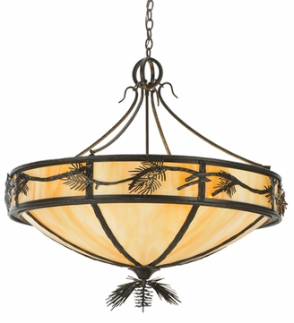 Meyda Tiffany 108049 Rustic Woodlands Lone Pine Inverted Pendant