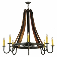 Meyda Tiffany 140876 Barrel Stave Timeless Bronze 8 Candle Rustic Chandelier