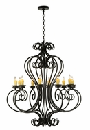 Meyda Tiffany 141833 Fernando 10 Candle Traditional 42 Inch Wide Hanging Chandelier