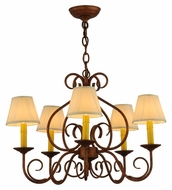 Meyda Tiffany 142077 Jenna Antique Style 26 Inch Diameter 5 Lamp Lighting Chandelier