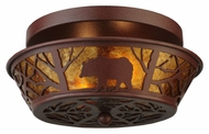 Meyda Tiffany 140650 Bear on the Loose 13 Inch Diameter Rustic Ceiling Light Fixture