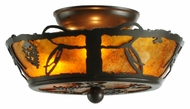 Meyda Tiffany 142266 Whispering Pines 10 Inch Diameter Timeless Bronze Flush Lighting