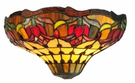 Meyda Tiffany 141667 Colonial Tulip Tiffany Art Glass 14 Inch Wide Wall Lighting