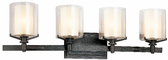 Troy B1714-FR Arcadia 4 Light French Iron Vanity Fixture