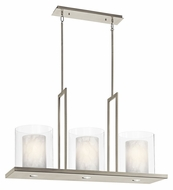 Kichler 42548CLP Triad 40 Inch Wide Classic Pewter Large Island Pendant Lighting