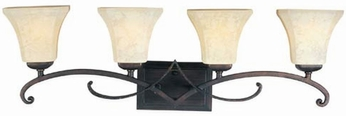 Maxim 21074FLRB Oak Harbor 4 Light Vanity Fixture