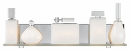 LBL Lola 24 Inch Wide Contemporary Vanity Lighting For Bathroom - Polished Chrome