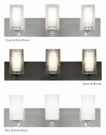 LBL Rock Candy 3-Light Bathroom Vanity Light Fixture - 32 Inches Wide