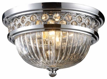 ELK 112252 Octagon Traditional Flush Mount Ceiling Light in Polished Chrome