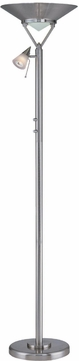 Lite Source LS80828-PS-FRO Kaiser 11 Polished Steel Fluorescent Torchiere/Reading Lamp