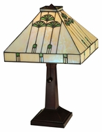 Meyda Tiffany 141462 Ginkgo Tiffany 16 Inch Tall Table Top Lamp