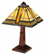 Meyda Tiffany 142879 Sierra Prairie Mission 16 Inch Tall Tiffany Table Lamp With Pull Chain