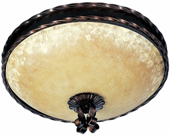 Maxim 20601VAOI Aspen Traditional 2 Light Flushmount Ceiling Fixture