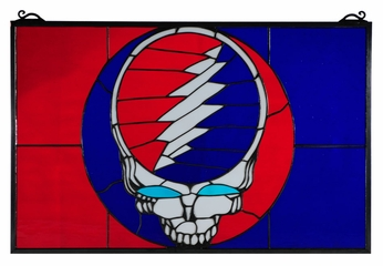 Meyda Tiffany 141459 Grateful Dead 28 Inch Wide Art Glass Wall Décor